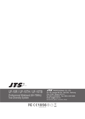 JTS UF-10R Product Manual