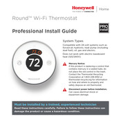 Honeywell Round Professional Install Manual