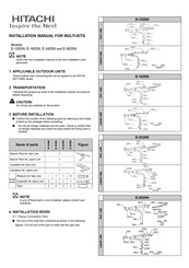 Hitachi E-242SN Installation Manual