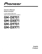 Pioneer GM-D8701 Owner's Manual