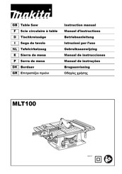 Makita MLT100 Instruction Manual