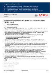 Bosch 7805 Fitting Instructions Manual