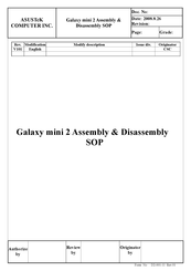 Asus Galaxy mini 2 Assembly & Disassembly