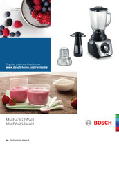 Bosch MMB64G3MAU Instruction Manual