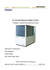 Haier CA0035AANC Installation, Operation And Technical Manual