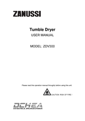 Zanussi ZDV300 User Manual