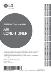 LG AC MANAGER 5 Installation Manual