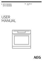AEG BPK748380M User Manual