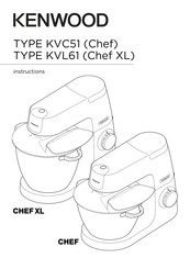 Kenwood CHEF Instructions Manual