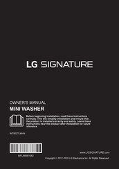 LG SIGNATURE WTS02TLWHN Owner's Manual