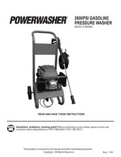 PowerWasher PW2600 Instructions Manual