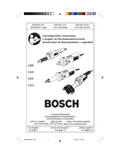 Bosch 1209 Operating/Safety Instructions Manual