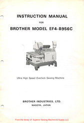 Brother EF4-B956C Instruction Manual