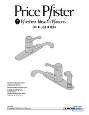 Black & Decker Price Pfister Portland 34 Series Quick Start Manual
