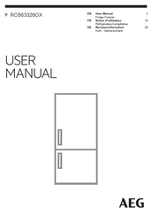 AEG RCB63326OX User Manual