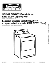 Kenmore SENSOR SMART KING SIZE Capacity Plus Use & Care Manual