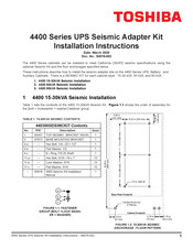 Toshiba 4400 15-30kVA Seismic Installation Instructions Manual