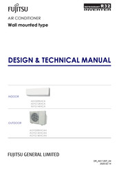 Fujitsu ASYG09KHCA Design & Technical Manual