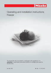 Miele FN 28262 ws Operating And Installation Instructions