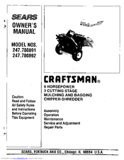 Craftsman 247.780891 Owner's Manual