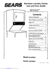 Kenmore Kenmore 95701 Electric Series Use And Care Manual