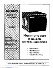 Kenmore 303.936613 Owner's Manual