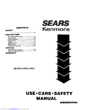 Kenmore 45520 Use, Care, Safety Manual