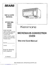 Kenmore 89950 Use And Care Manual