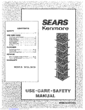 Kenmore 36729 Use, Care, Safety Manual