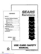 Kenmore 30229 Use, Care, Safety Manual