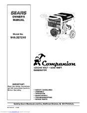 COMPANION CAMPANION 919 32721 OWNER'S MANUAL Pdf Download