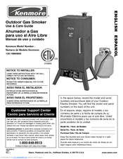 Kenmore Gas smoker 125.15884800 Use And Care Manual