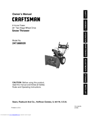 Craftsman 247.88852 Owner's Manual