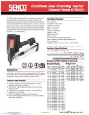 Senco GT90CH Specification Sheet Download