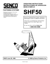 senco shf50 operating instructions manual pdf download rh manualslib com