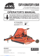 RHINO SR15M OPERATOR'S MANUAL Pdf Download