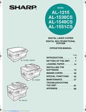 Sharp AL-1540CS Operation Manual