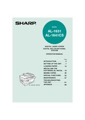 sharp al 1631 operation manual pdf download rh manualslib com Sharp Al 1631 Copier Machine Printer Sharp Al 1631