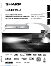 Sharp AQUOS BD-HP24U(A) Operation Manual