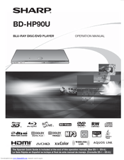 Sharp BD-HP90U Operation Manual