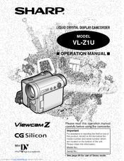 sharp viewcam vl z1u operation manual pdf download rh manualslib com sharp viewcam z vl-z7 manual sharp viewcam z vl-z5 manual
