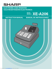 sharp xe a206 manuals rh manualslib com Sharp XE A206 Programming Sharp Electronic Cash Register XE-A206