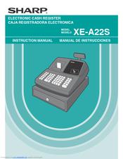 sharp xe a22s manuals rh manualslib com Sharp Cash Register Xe Sharp Cash Register ManualDownload