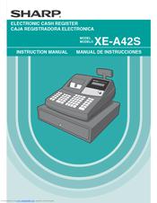 sharp xe a41s manuals rh manualslib com Sharp Cash Register Manual Sharp Electronic Cash Register