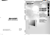 Sharp LC-M3700 Operation Manual