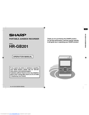 Sharp HR-GB201 Operation Manual