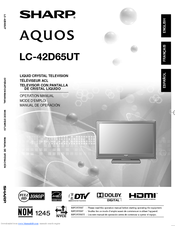 sharp 42 lcd tv manual