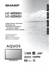 sharp lc c4662u manuals rh manualslib com