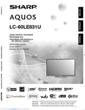 sharp aquos lc 60le835u manuals rh manualslib com Microwave Oven Sharp R 308J sharp aquos lc-60le835u manual