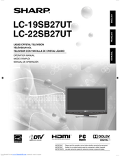 sharp lc 19sb27ut operation manual pdf download rh manualslib com